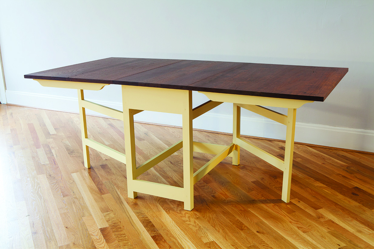 Modern Gateleg Table A Contemporary Looking Design That S Really From The 18th Century Popular Woodworking Magazine