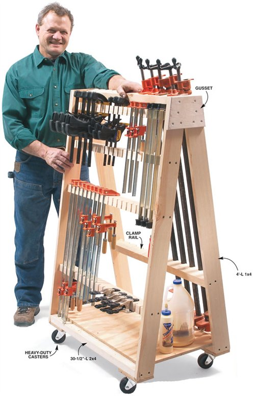 Mobile Clamp Rack Popular Woodworking Magazine
