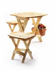 Perfect picnic. A folding stool or two is perfect for a picnic in the park – or your backyard. To make a matching table, just upsize the stool components.