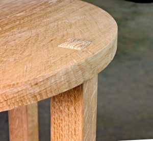 Through tenon in table top
