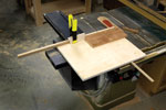 """Repeatable, perfect 90º cuts. Cutting panels with a standard issue miter gauge is """"iffy"""" at best. While the degree of difficulty to build and use this panel-cutting sled is near zero, the results are a 10."""