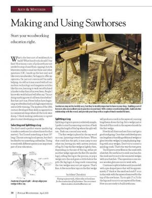 Arts & Mysteries: Making & Using Sawhorses-0