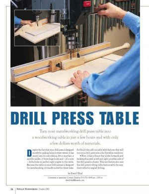 Drill Press Table Digital Download-0
