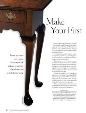 Make Your First Cabriole Legs Digital Download-0