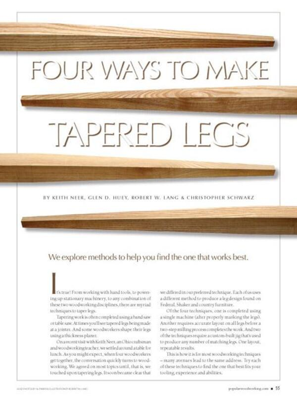 Four Ways to Make Tapered Legs Digital Download-0