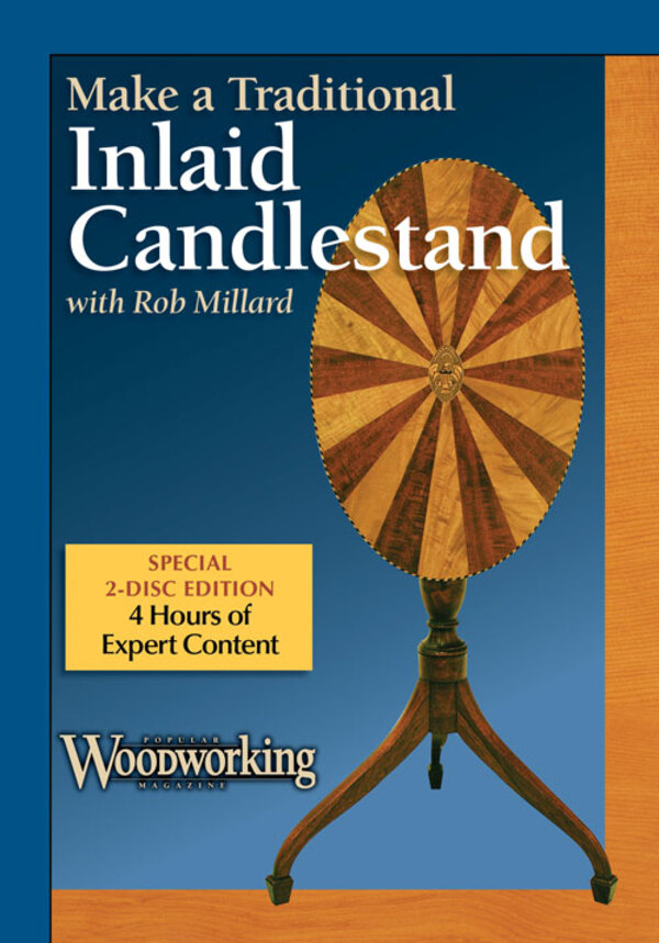 Make a Traditional Inlaid Candlestand with Rob Millard DVD-0