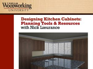 Designing Kitchen Cabinets: Planning Tools & Resources Video Download-0