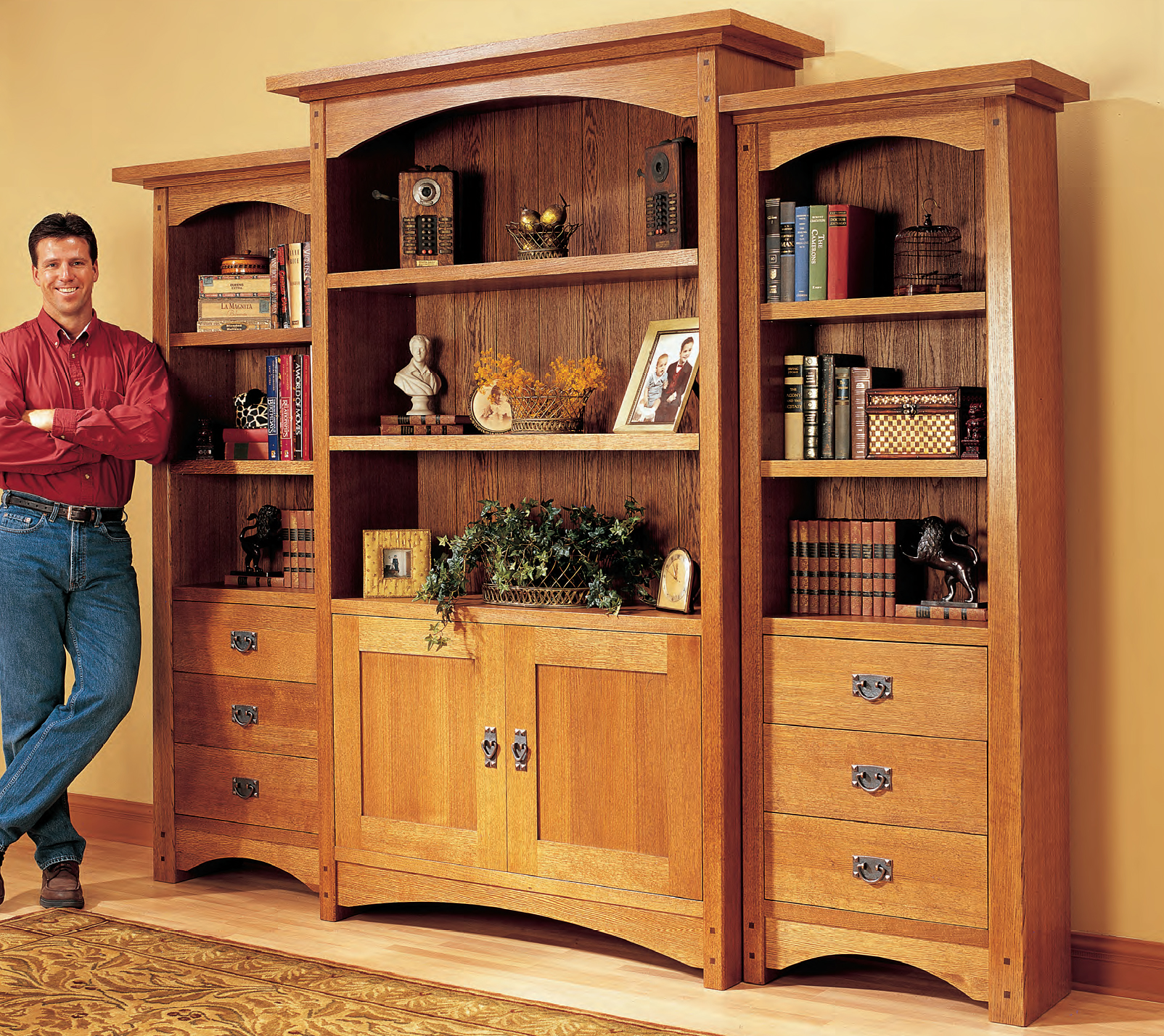Craftsman Bookcase Project Download | Popular Woodworking ...