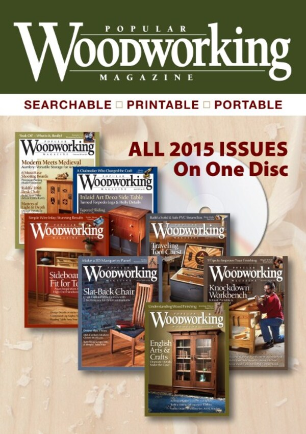 Popular WoodWorking Magazine 2015 Collection CD-0