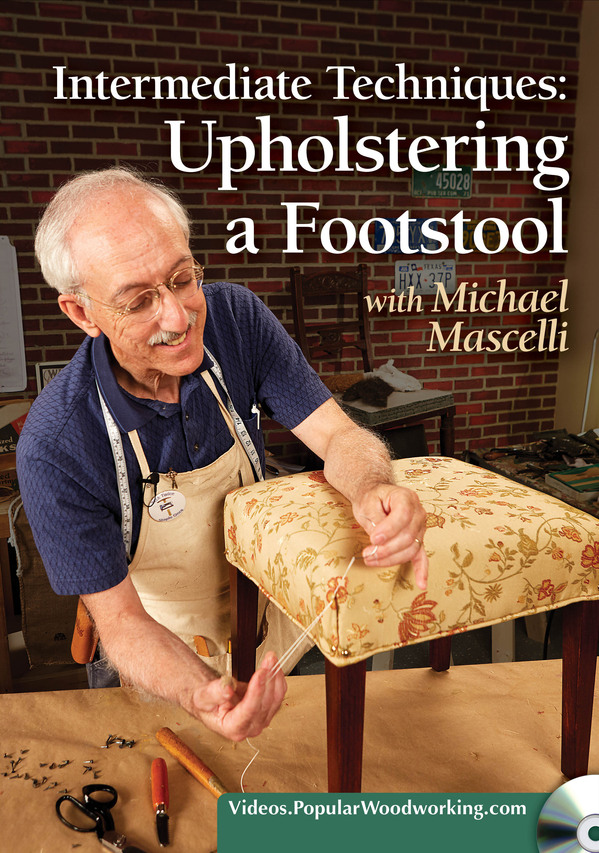 Intermediate Techniques: Upholstering a Footstool-0