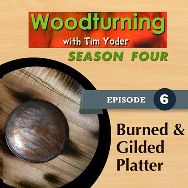 Woodturning with Tim - Burned & Gilded Platter-0