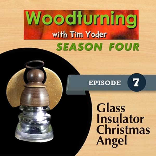 Woodturning with Tim - Glass Insulator Christmas Angel-0