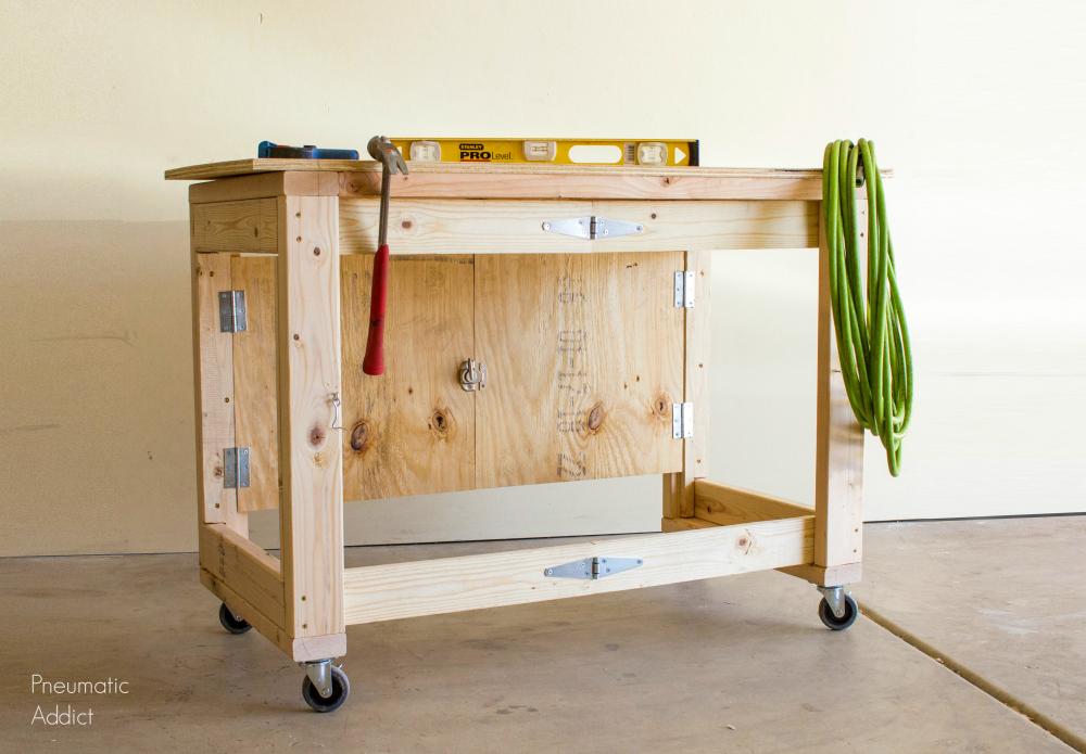 Diy Folding Mobile Workbench Modifications Popular Woodworking - Diy Fold Down Work Table