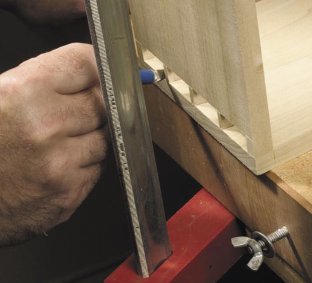dovetail pin board