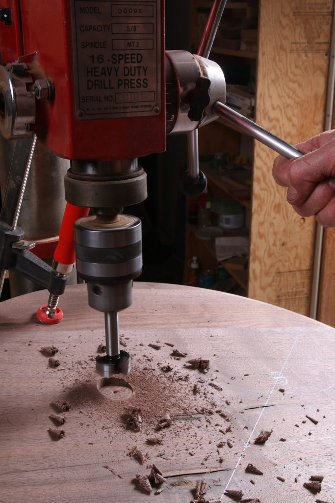 dish top table drilling