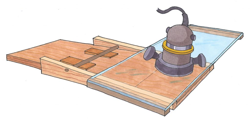 router scarfing jig