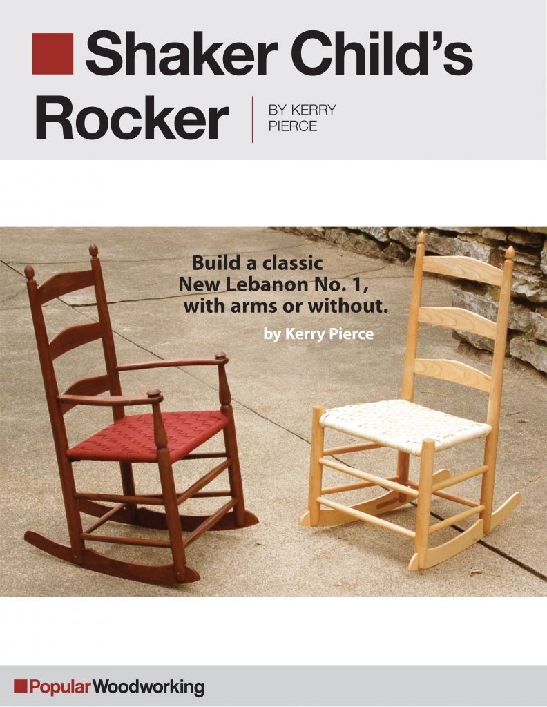 Shaker Rocking Chair Woodworking Plans
