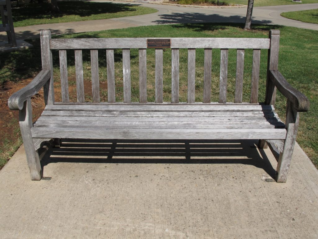 outdoor finish for a bench