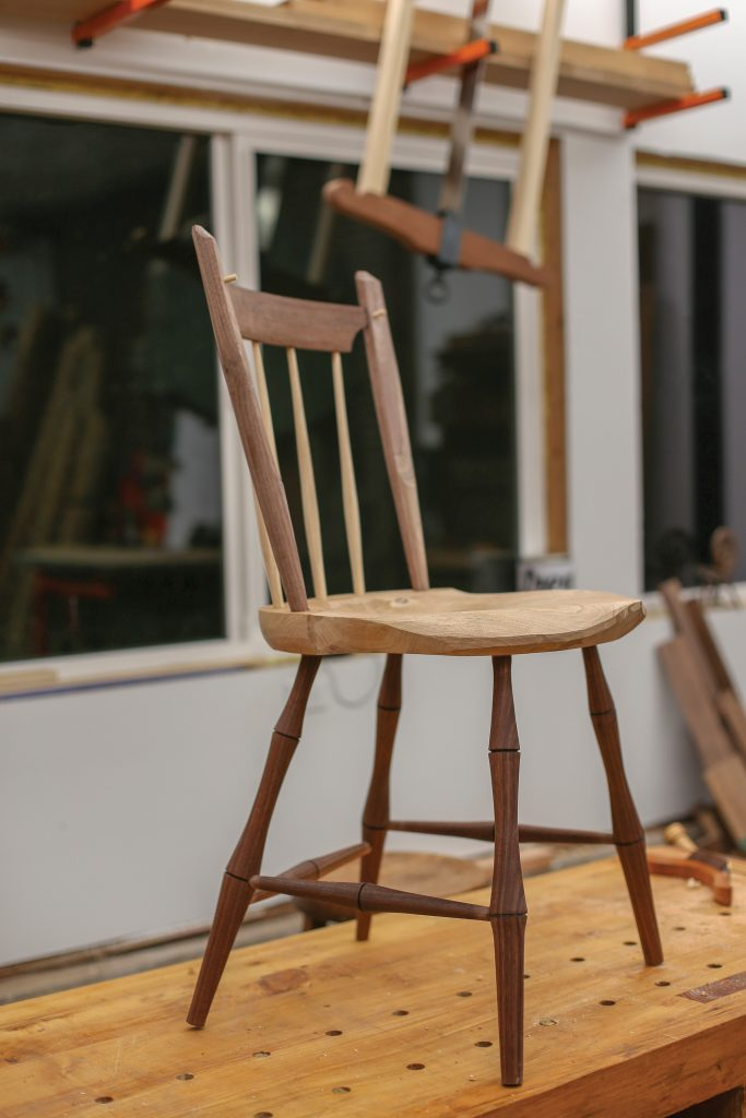 finished windsor chair