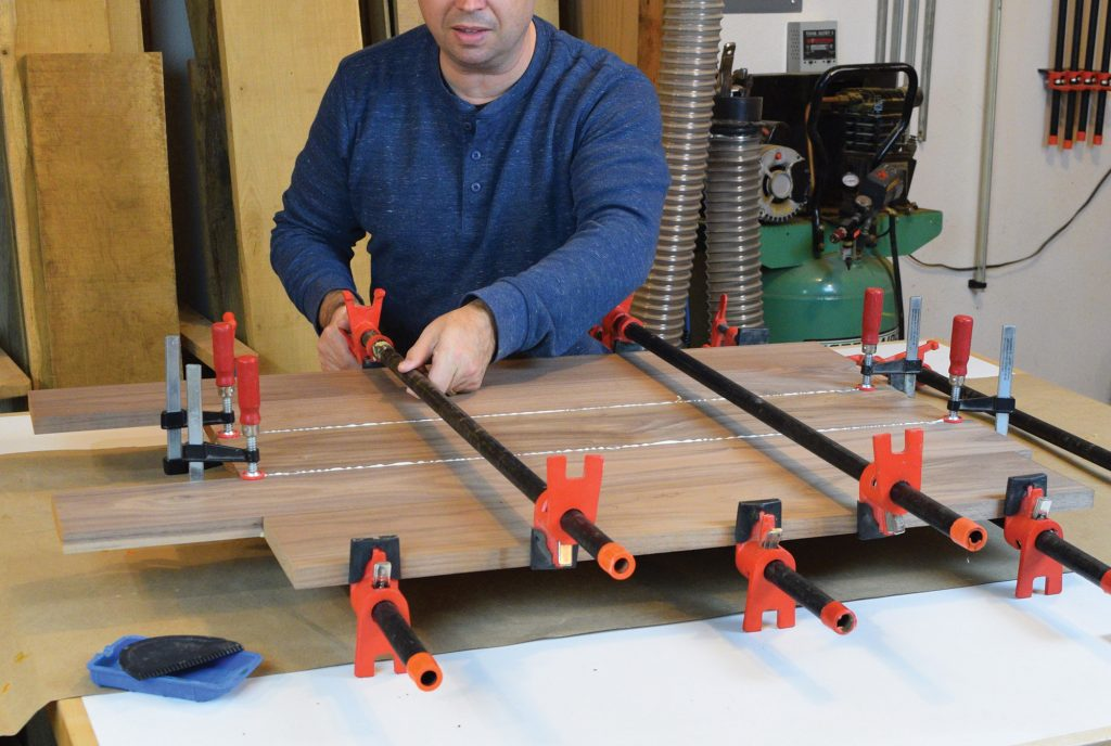 clamping the tabletop