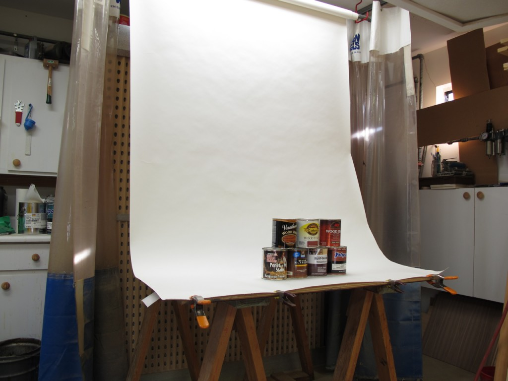 By pulling the curtains back, I can use the space as a photo studio
