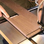Trim the edge cheeks of your aprons with a band saw. Then cut the edge shoulders. Cut close. But not too close.