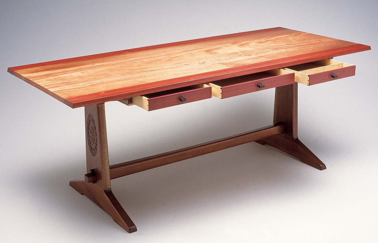 Make a DIY trestle table with this tutorial that shows how to make your own trestle table plans.