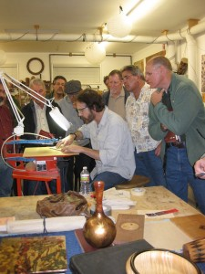 David performs a demo for the Sonoma County Woodworkers Association.