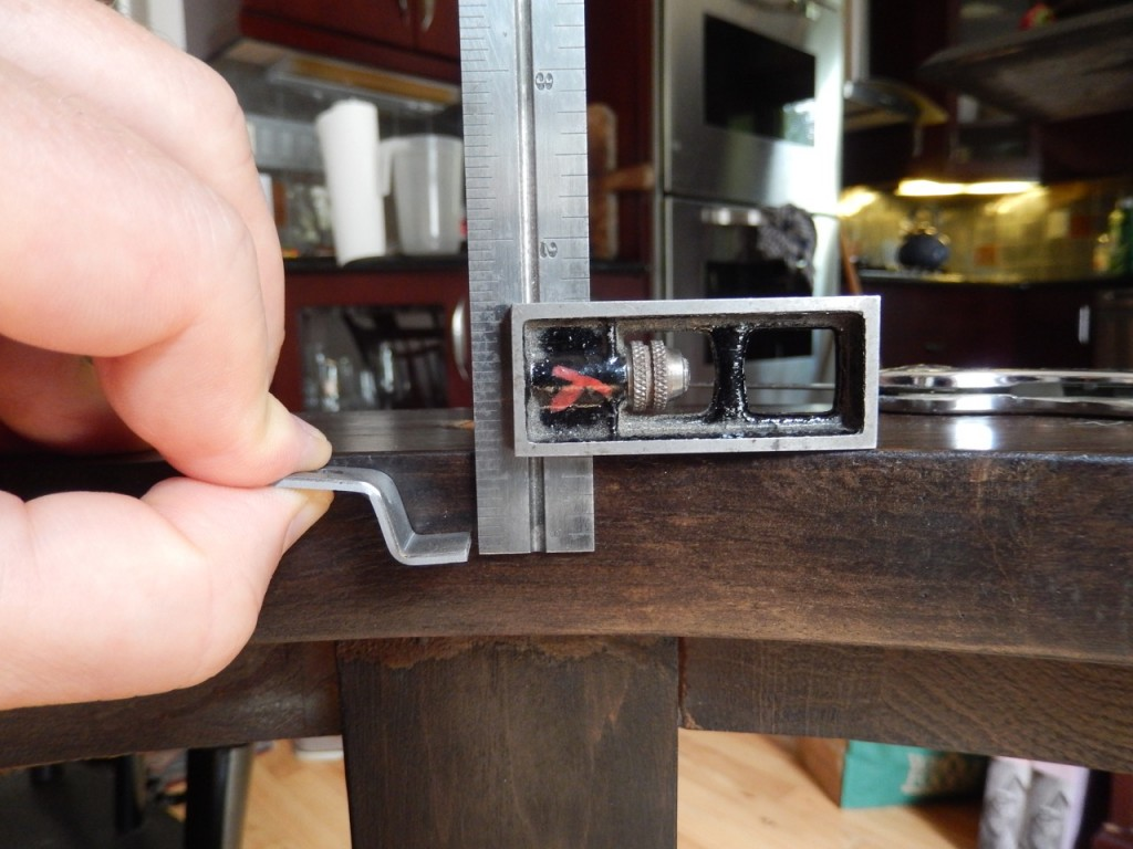A.  I first outlined the parameters of the mortises with a square and a cutting gauge