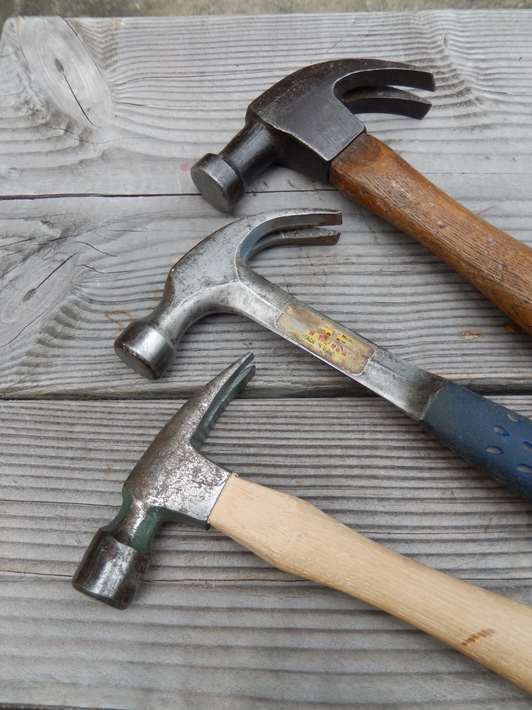 Three of my most useful claw head hammers