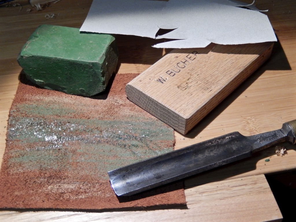 Honing form for round edge tools