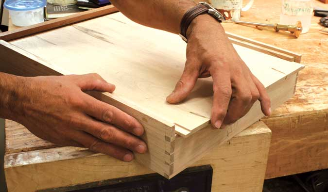 dovetailed drawers bottoms