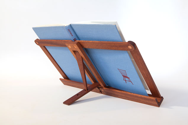 Folding Bookstand Made With Rivets Popular Woodworking Magazine