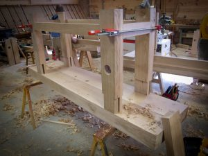 "A ""Robo"" bench I am building with the help of ""Lee-Nelson"" planes."