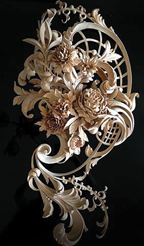 basswood wall carving