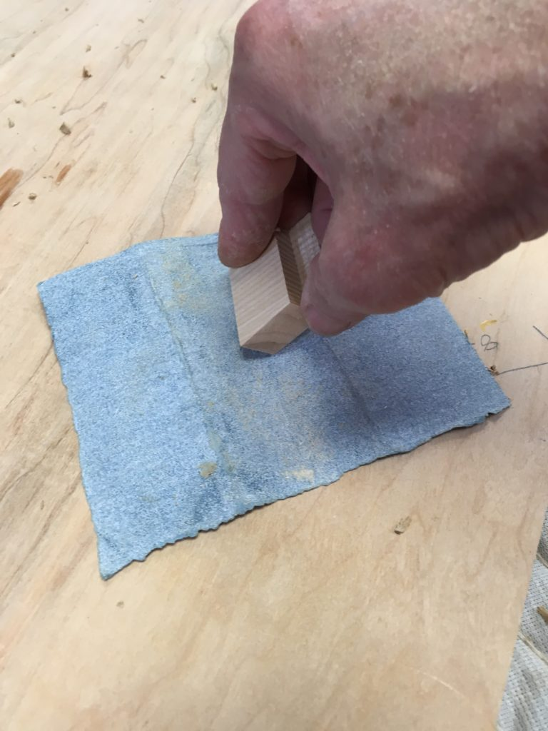 attaching a table top with traditional wooden buttons