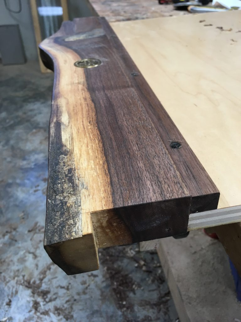 live edge keyboard tray