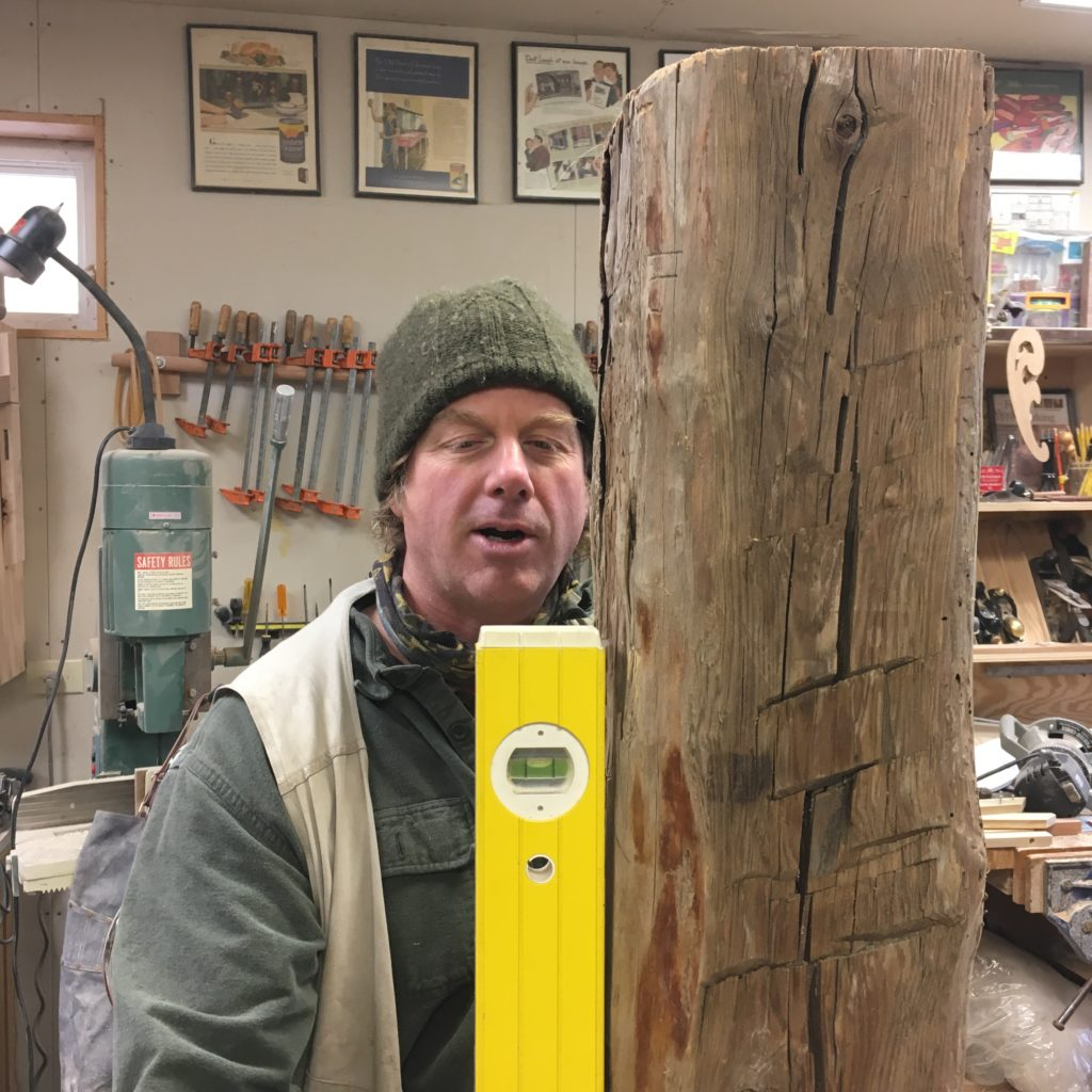 working with rough salvaged lumber