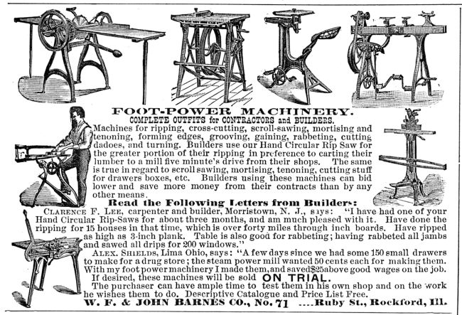 Pedal Powered Woodworking Machines Popular Woodworking Magazine