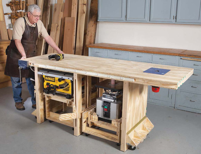 power tool bench american woodworker