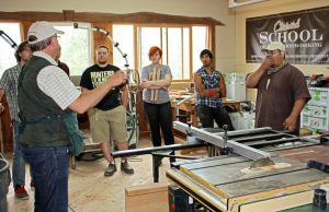 Dean Mattson with his students from the North Salem High School woodworking program.