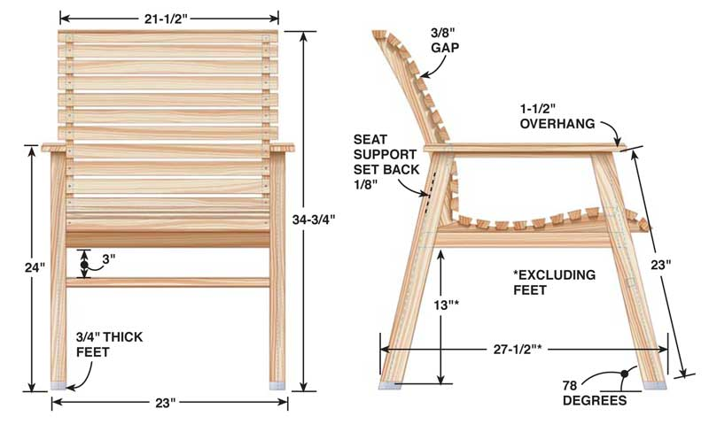 Patio Chair Popular Woodworking, Deck Furniture Plans