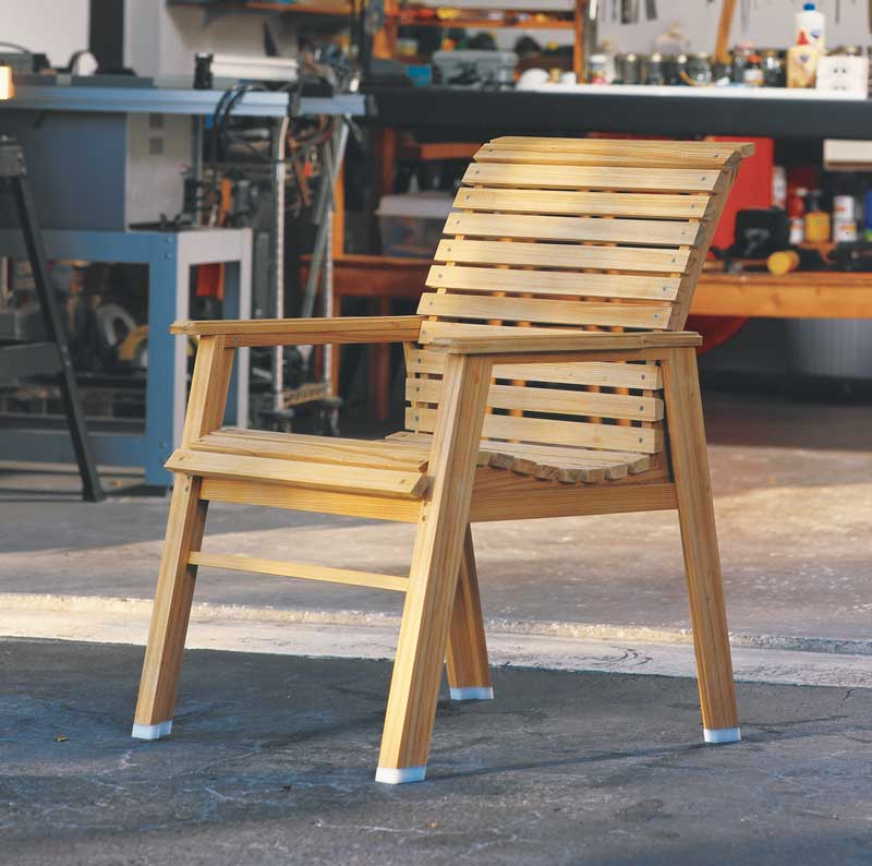 Patio Chair Por Woodworking Magazine