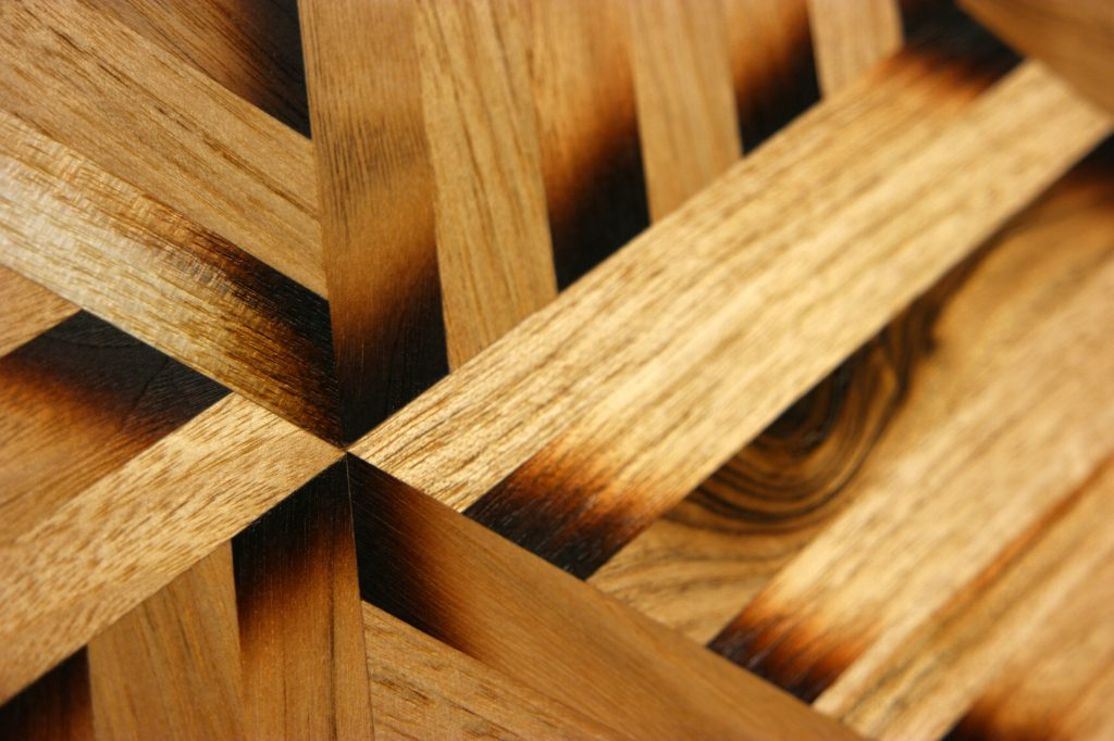 sand shaded parquetry