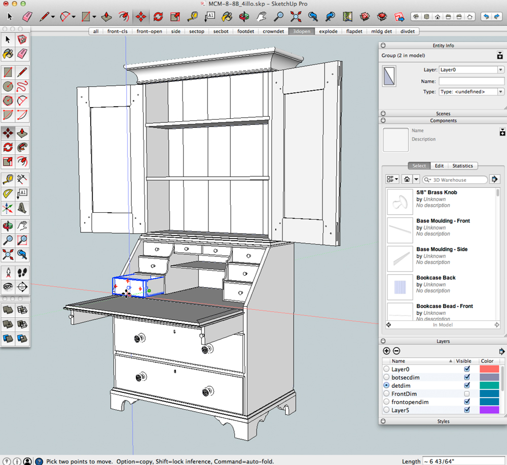SketchUp Class With Bob Lang, Sept. 8-12 | Popular Woodworking Magazine