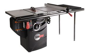 The SawStop Professional Cabinet Saw (PCS) is a great choice, just one notch below industrial saws in size and power.