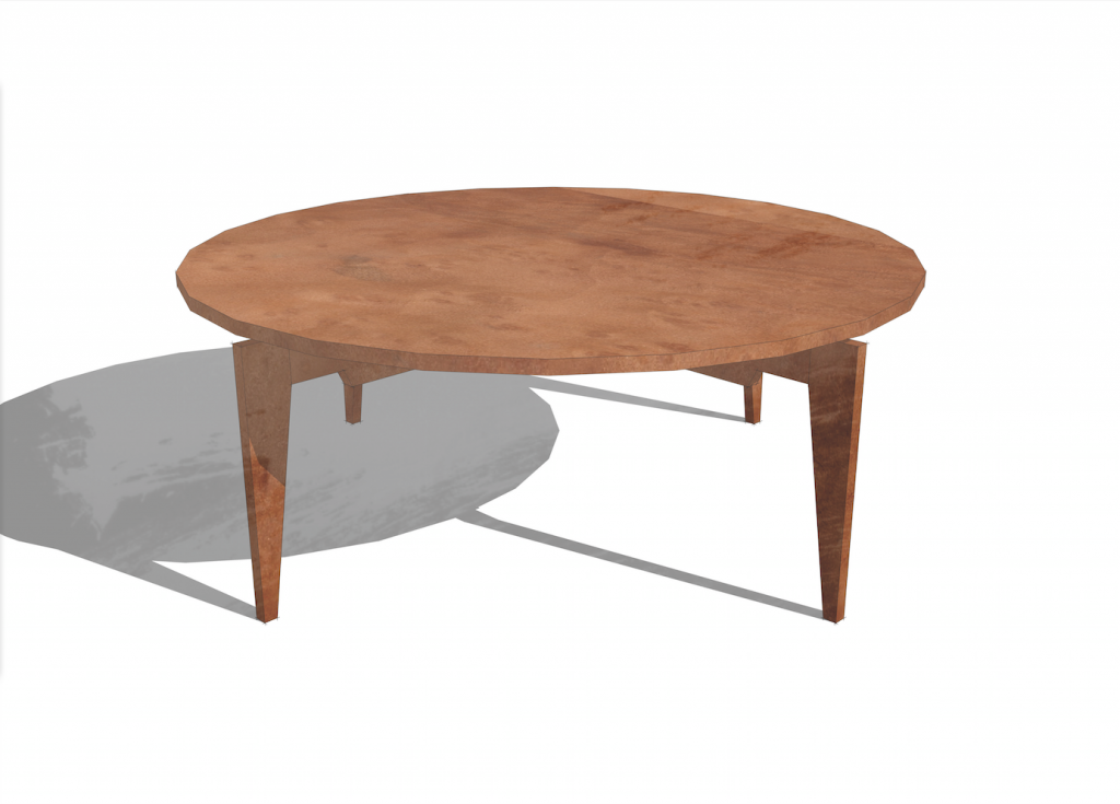 Risom round coffee table