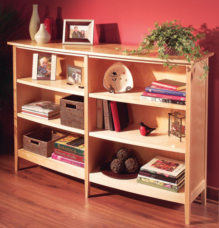 bow front bookcase
