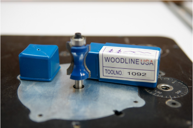 "A ¾"" thumbnail router bit (Woodline WL-1092) with a top bearing bit is used to create the cloud lifted and pillowed profile."