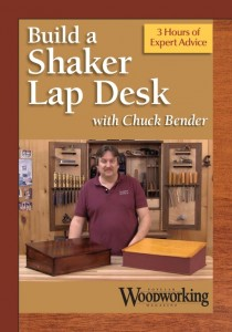 Build a Shaker Lap Desk with Chuck Bender DVD cover